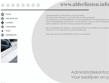 Tablet Preview of alderliesten.info